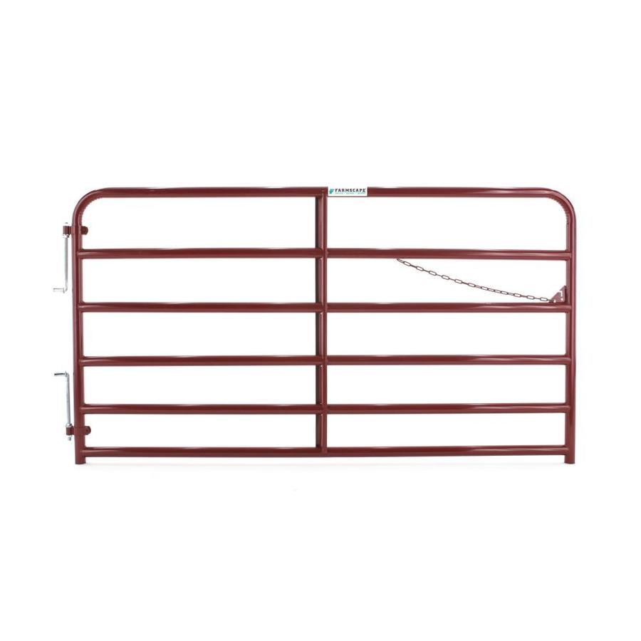 Tarter Red E-Coat Metal Steel (Not Wood) Farm Fence Gate (Common: 8-ft x 4.33-ft; Actual: 7.75-ft x 4.33 Feet)