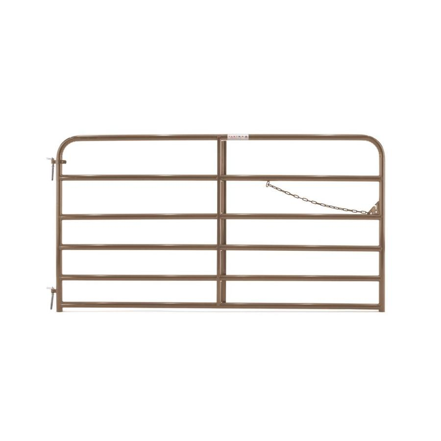 Tarter Brown Powder Coat Metal Steel (Not Wood) Farm Fence Gate (Common: 8-ft x 4.16-ft; Actual: 7.75-ft x 4.16 Feet)
