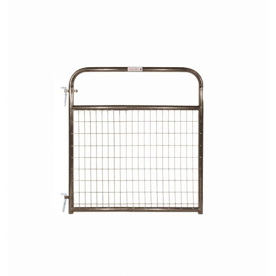 Tarter Brown Powder Coat Metal Steel (Not Wood) Farm Fence Gate (Common: 4-ft x 4.16-ft; Actual: 3.75-ft x 4.16 Feet)