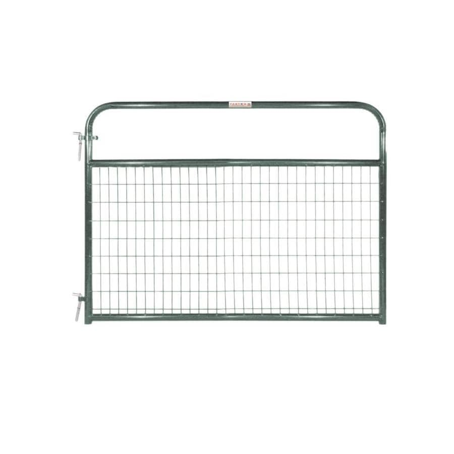 Tarter Green Powder Over E-Coat Metal Steel (Not Wood) Farm Fence Gate (Common: 6-ft x 4.16-ft; Actual: 5.75-ft x 4.16 Feet)