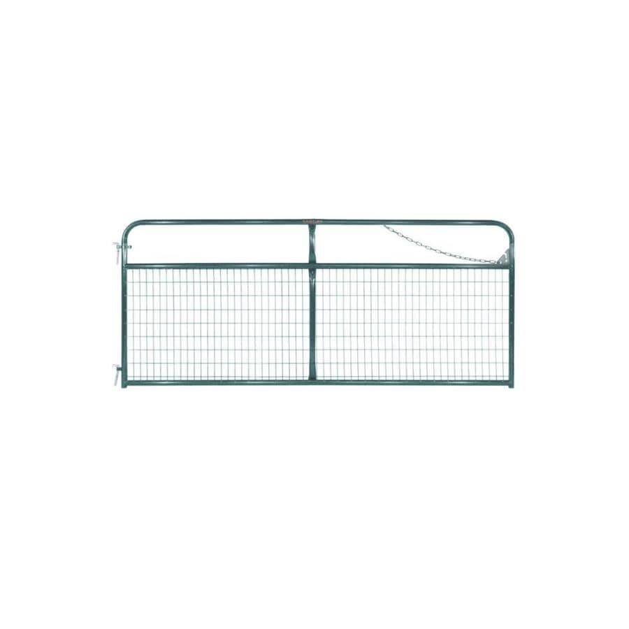 Tarter Green Powder Over E-Coat Metal Steel (Not Wood) Farm Fence Gate (Common: 10-ft x 4.16-ft; Actual: 9.75-ft x 4.16 Feet)