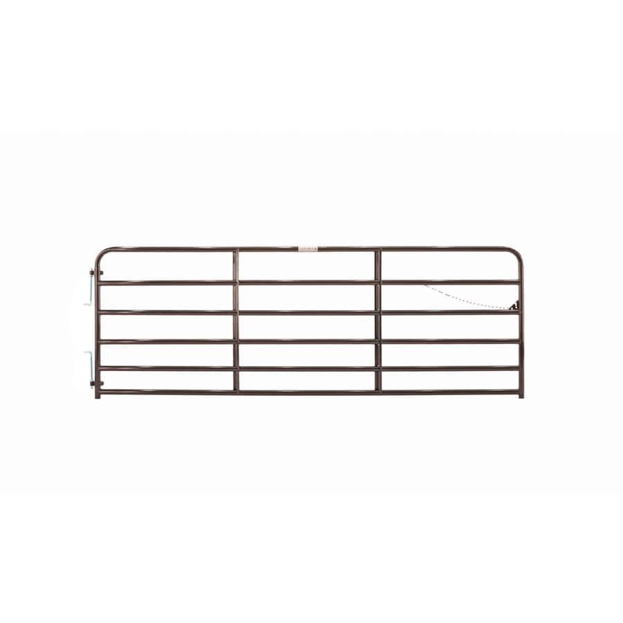 Tarter Brown Powder Coat Metal Steel (Not Wood) Farm Fence Gate (Common: 12-ft x 4.33-ft; Actual: 11.75-ft x 4.33 Feet)
