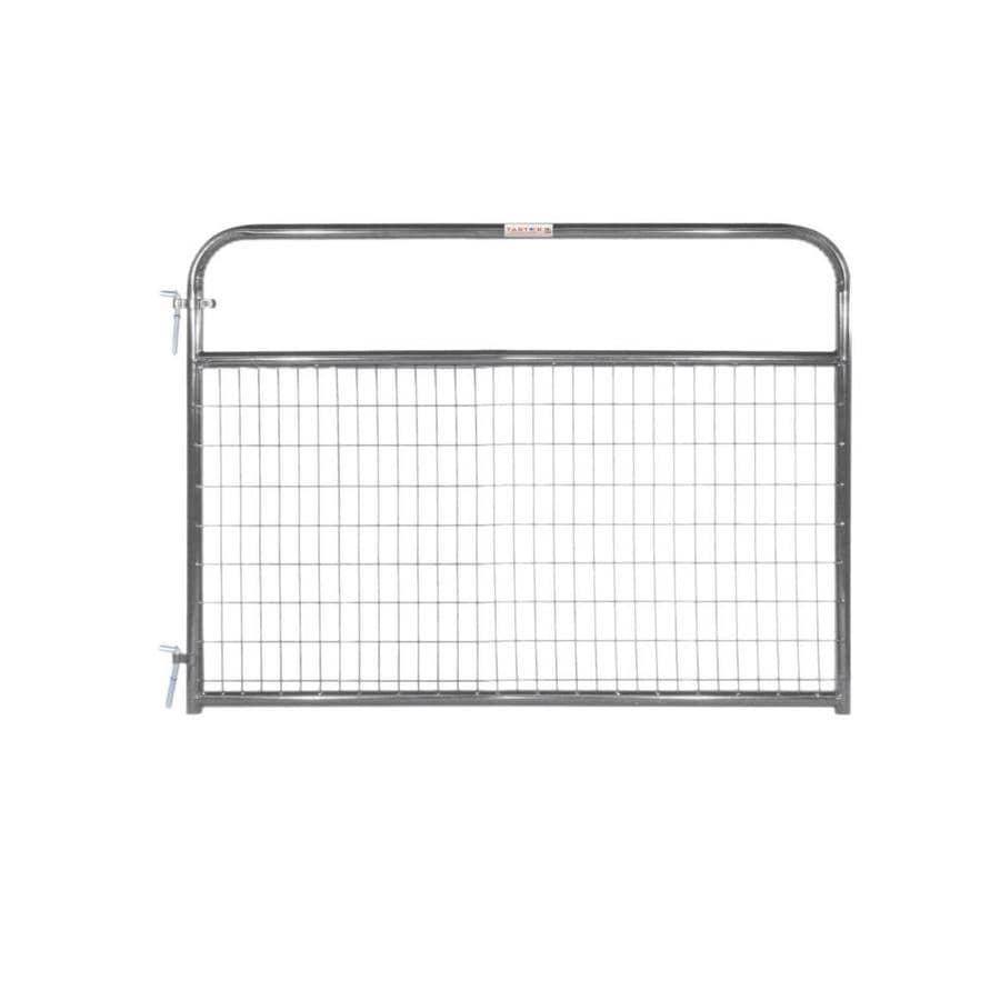Tarter Gray Powder Over E-Coat Metal Steel (Not Wood) Farm Fence Gate (Common: 6-ft x 4.16-ft; Actual: 5.75-ft x 4.16 Feet)