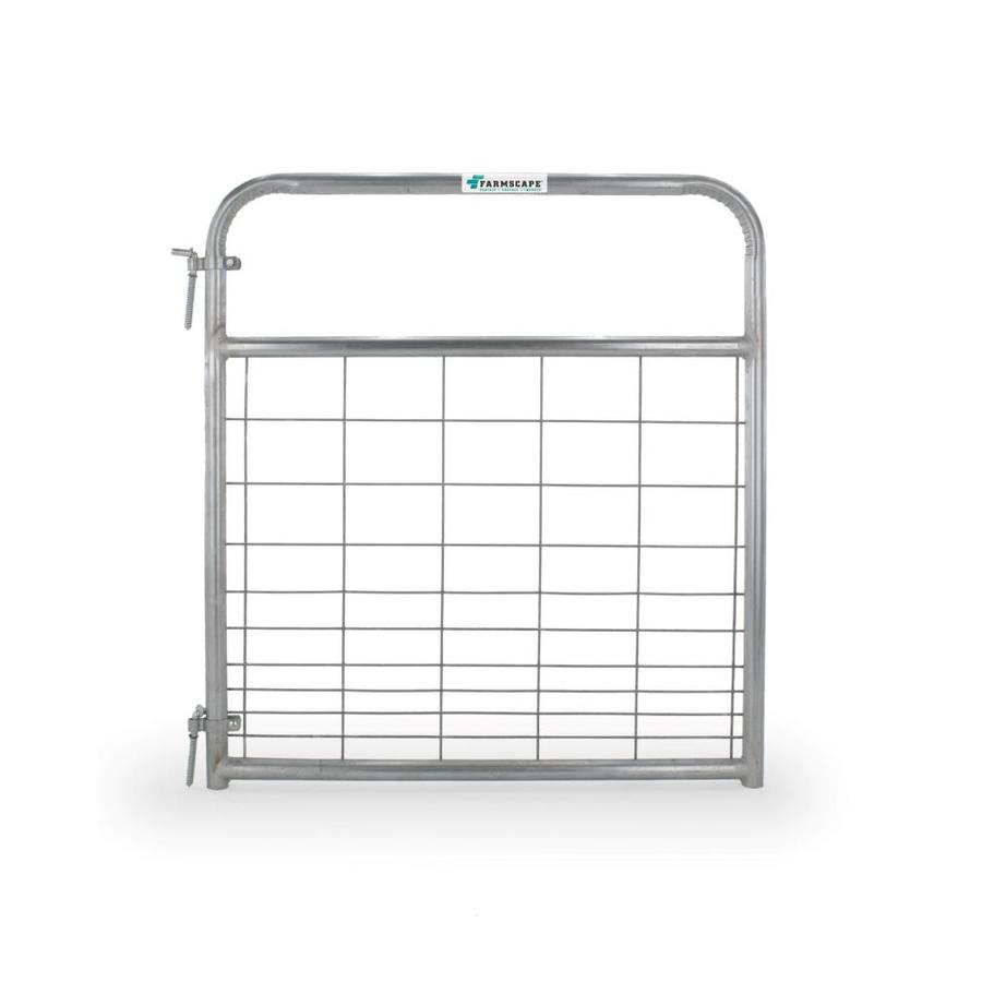 Tarter Galvanized Metal Steel (Not Wood) Farm Fence Gate (Common: 4-ft x 4.16-ft; Actual: 3.75-ft x 4.16 Feet)