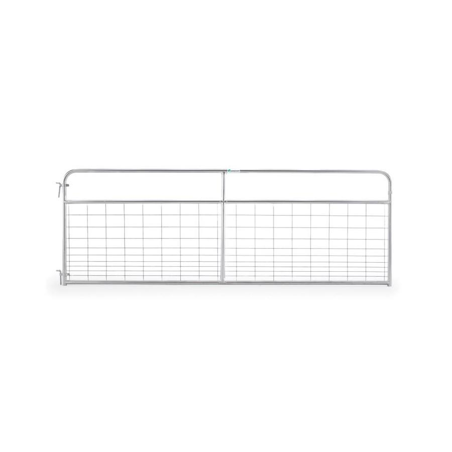 Tarter Galvanized Metal Steel (Not Wood) Farm Fence Gate (Common: 12-ft x 4.16-ft; Actual: 11.75-ft x 4.16 Feet)