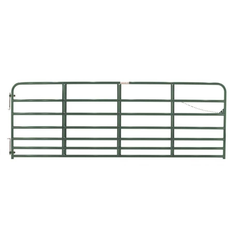 Tarter Green Powder Over E-Coat Metal Steel (Not Wood) Farm Fence Gate (Common: 12-ft x 4.16-ft; Actual: 11.75-ft x 4.16 Feet)