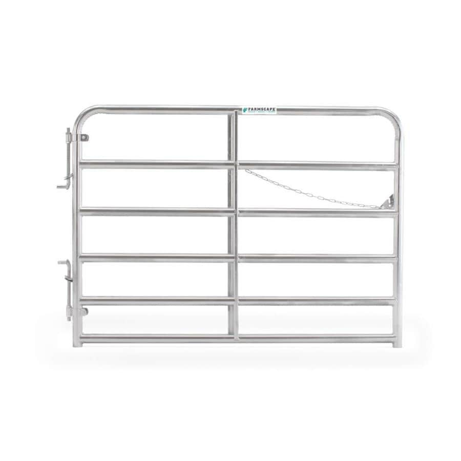 Tarter Galvanized Metal Steel (Not Wood) Farm Fence Gate (Common: 6-ft x 4.33-ft; Actual: 5.75-ft x 4.33 Feet)