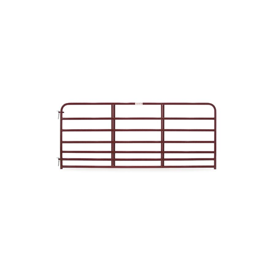 Tarter Red E-Coat Metal Steel (Not Wood) Farm Fence Gate (Common: 10-ft x 4.16-ft; Actual: 9.75-ft x 4.16 Feet)