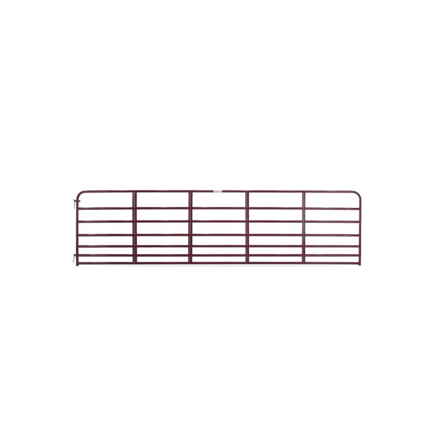 Tarter Red E-Coat Metal Steel (Not Wood) Farm Fence Gate (Common: 16-ft x 4.16-ft; Actual: 15.75-ft x 4.16 Feet)