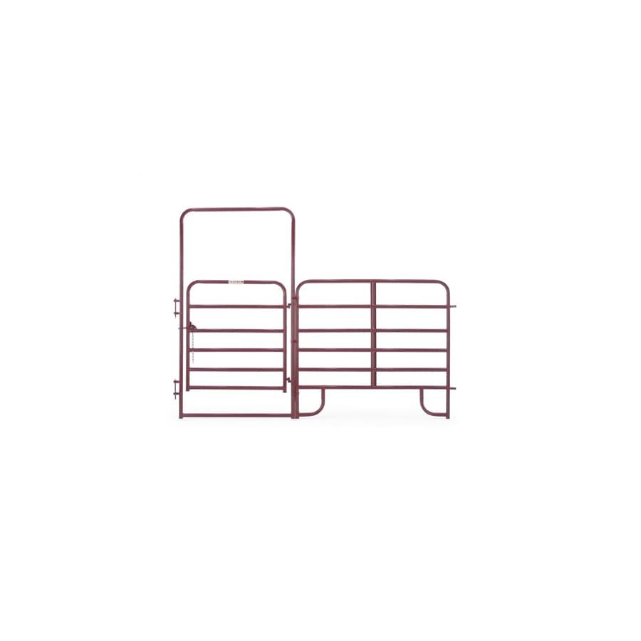 Tarter Red E-Coat Metal Steel (Not Wood) Farm Fence Walk-Thru Gate (Common: 10-ft x 8-ft; Actual: 10.58-ft x 8 Feet)