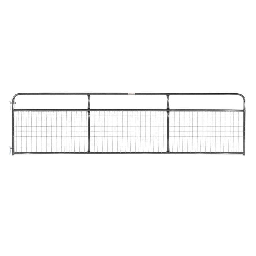 Tarter Black Powder Over E-Coat Metal Steel (Not Wood) Farm Fence Gate (Common: 16-ft x 4.16-ft; Actual: 15.75-ft x 4.16 Feet)