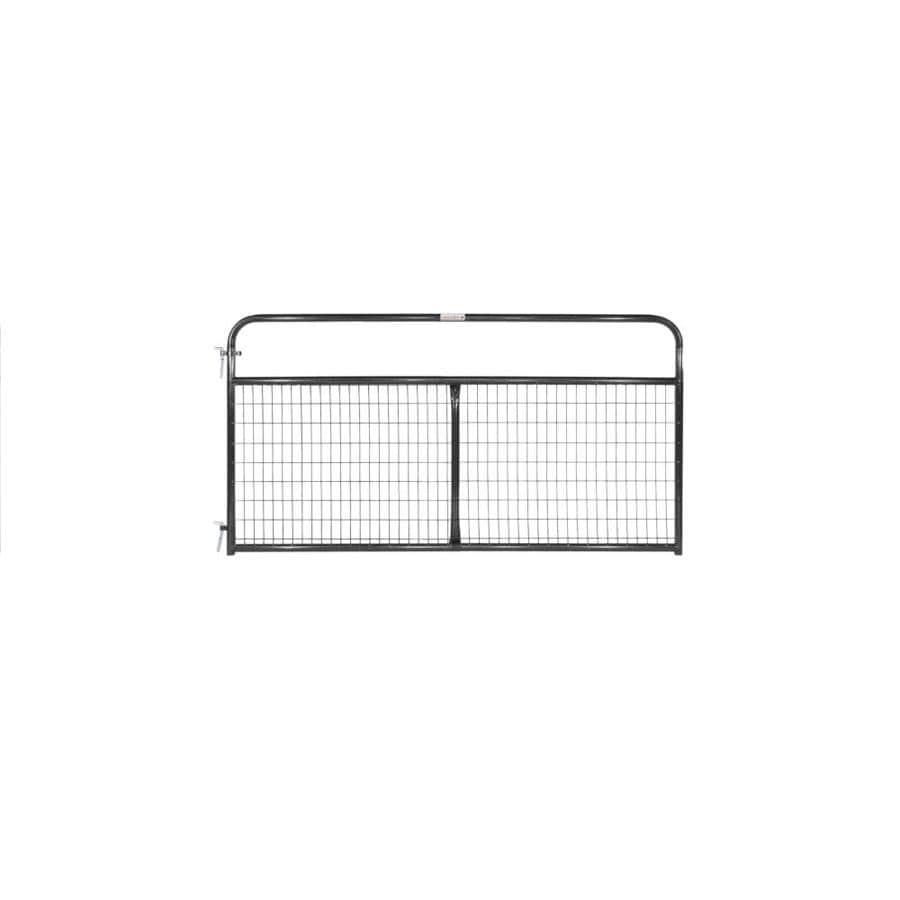 Tarter Black Powder Over E-Coat Metal Steel (Not Wood) Farm Fence Gate (Common: 8-ft x 4.16-ft; Actual: 7.75-ft x 4.16 Feet)