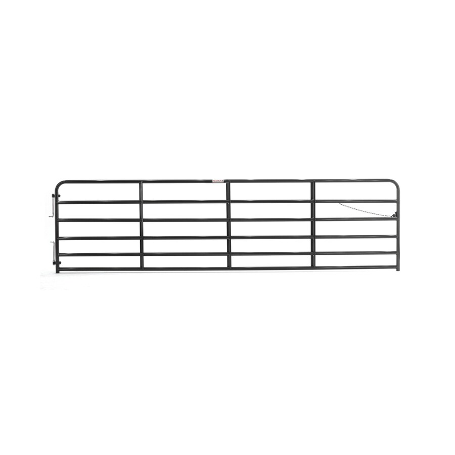 Tarter Black Powder Over E-Coat Metal Steel (Not Wood) Farm Fence Gate (Common: 16-ft x 4.33-ft; Actual: 15.75-ft x 4.33 Feet)