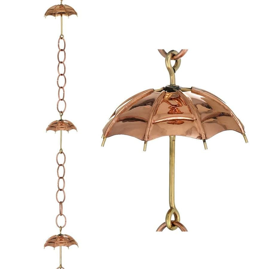 Good Directions 8.5-ft Copper Umbrella Rain Chains
