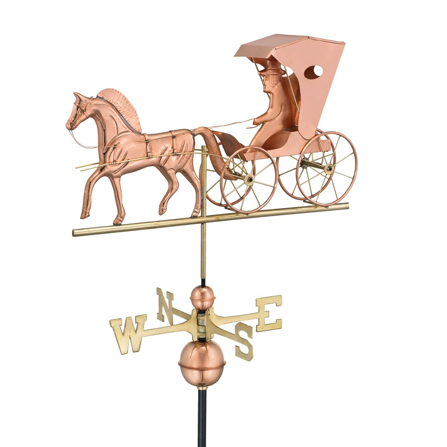 Polished Copper Country Doctor Weathervane