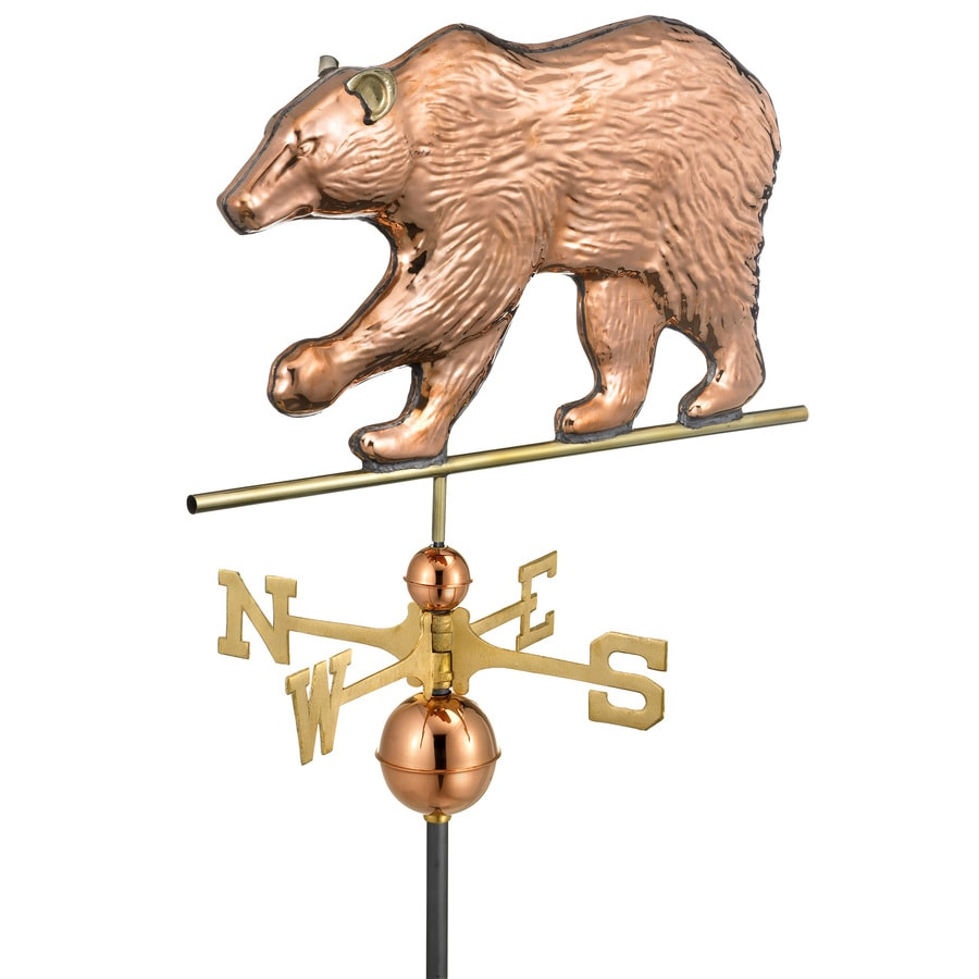 Good Directions Polished Copper Bear Weathervane