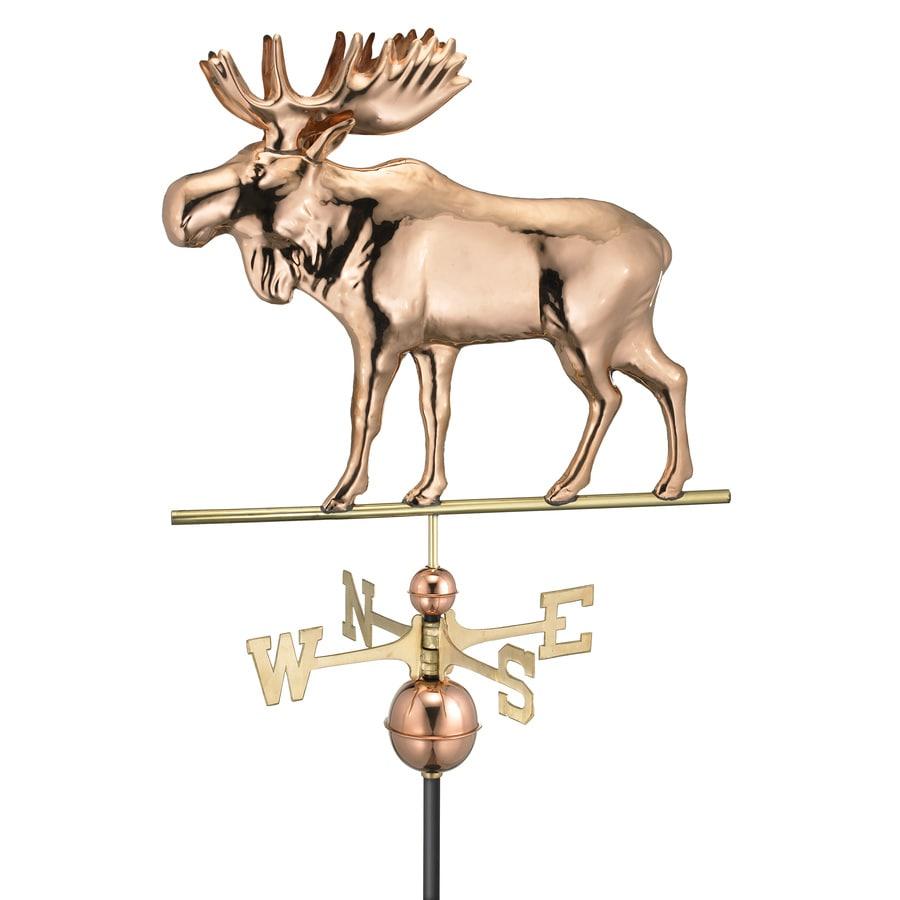 Good Directions Polished Copper Moose Weathervane