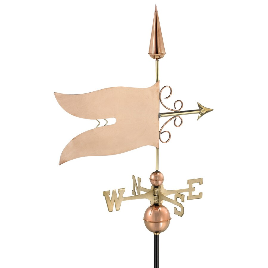 Good Directions Polished Copper Banner Weathervane