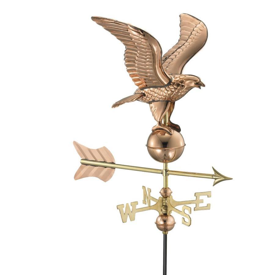 Good Directions Polished Copper Eagle Weathervane