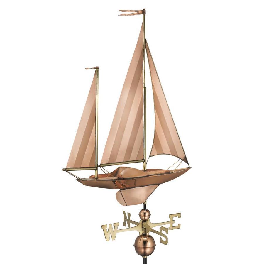 Good Directions Polished Copper Large Sailboat Weathervane