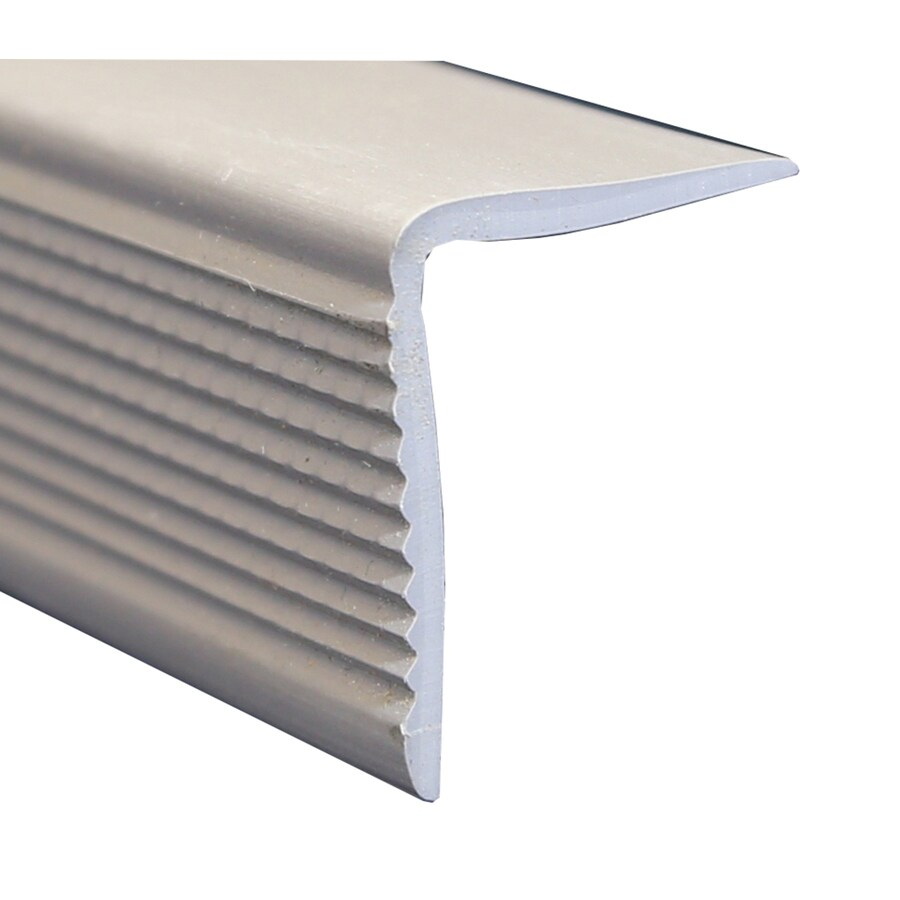 Wellmade 1.375-in x 72-in Grey Stair Nose Floor Moulding