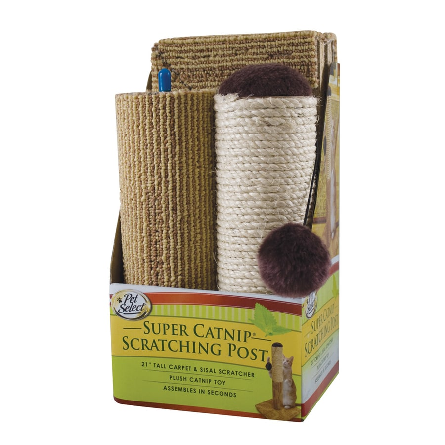 Four Paws Carpet Scratching Post with Catnip