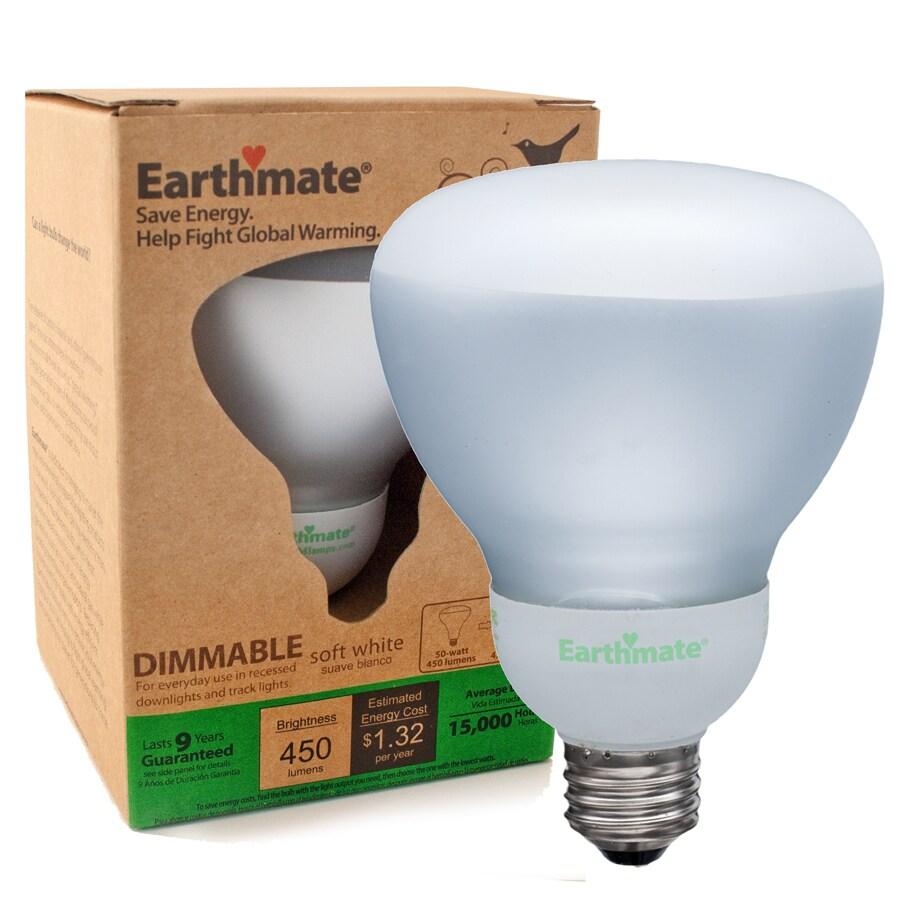 Earthmate 11-Watt (55W Equivalent) 2,700K BR30 Soft White Dimmable CFL Bulb