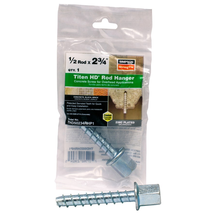 Simpson Strong Tie Titen Hd 174 2 3 4 In Threaded Rod Hanger For 1 2 In Rod In The Concrete Anchors Department At Lowes Com