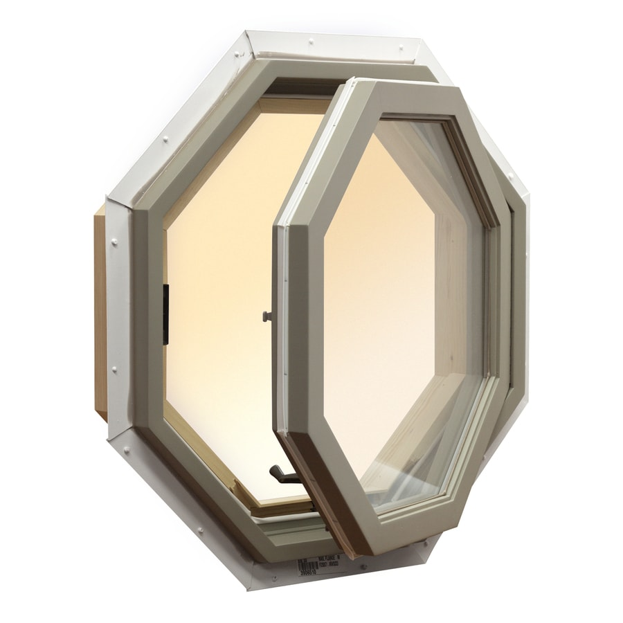 Shop awsco octagon replacement window rough opening 25 5 for Picture window replacement