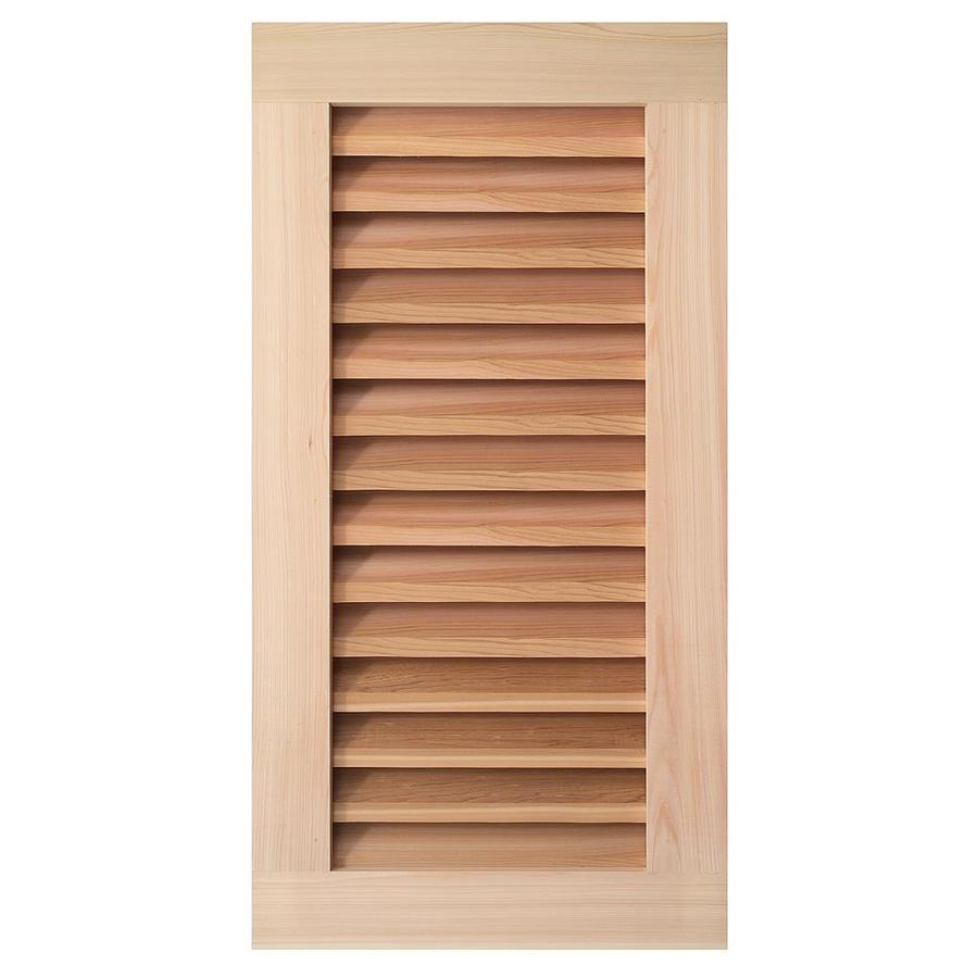 AWSCO 11.5-in x 19.5-in Raw Redwood Rectangle Gable Vent