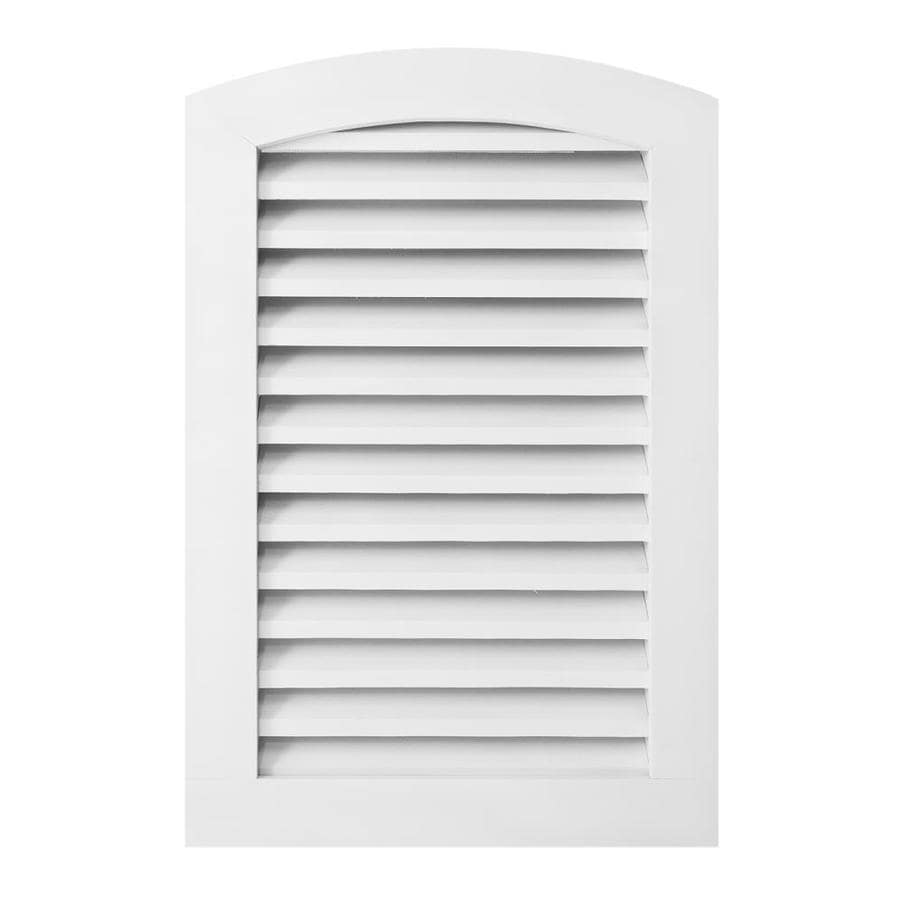 AWSCO 7.5-in x 23.5-in White Round Top Vinyl Gable Vent