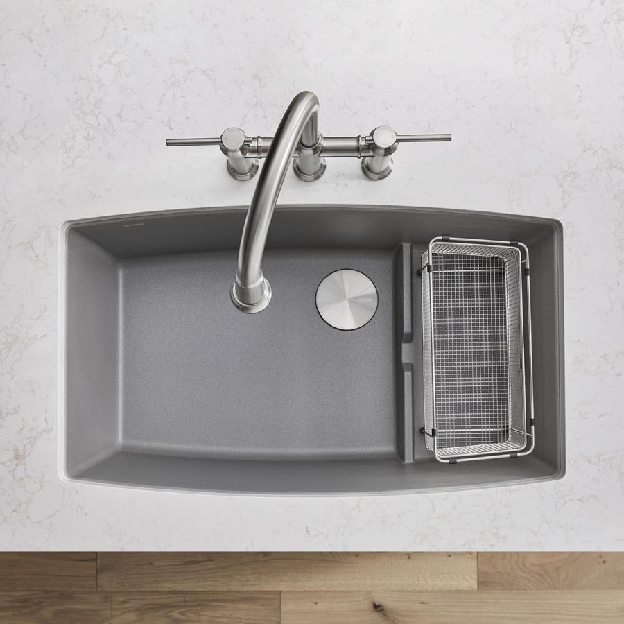 BLANCO Performa 19.5-in x 32-in Metallic Gray Single-Basin Granite Undermount Residential Kitchen Sink