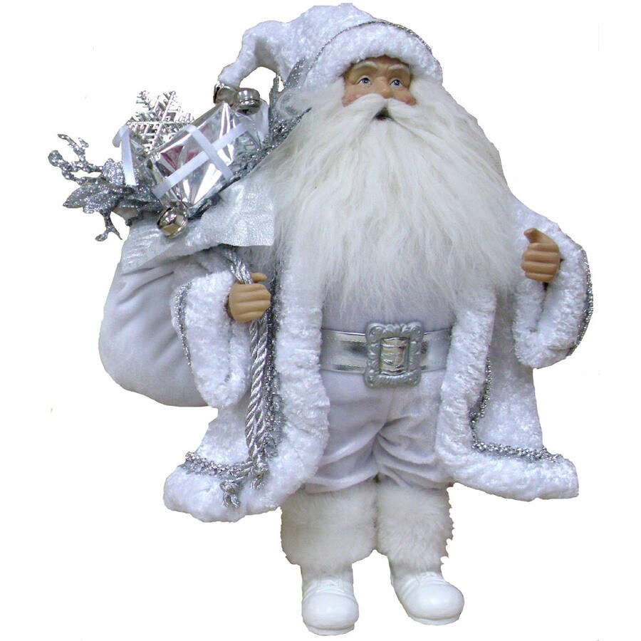 Holiday Living 16-in Fabric White Old World Santa Tabletop Christmas Decoration
