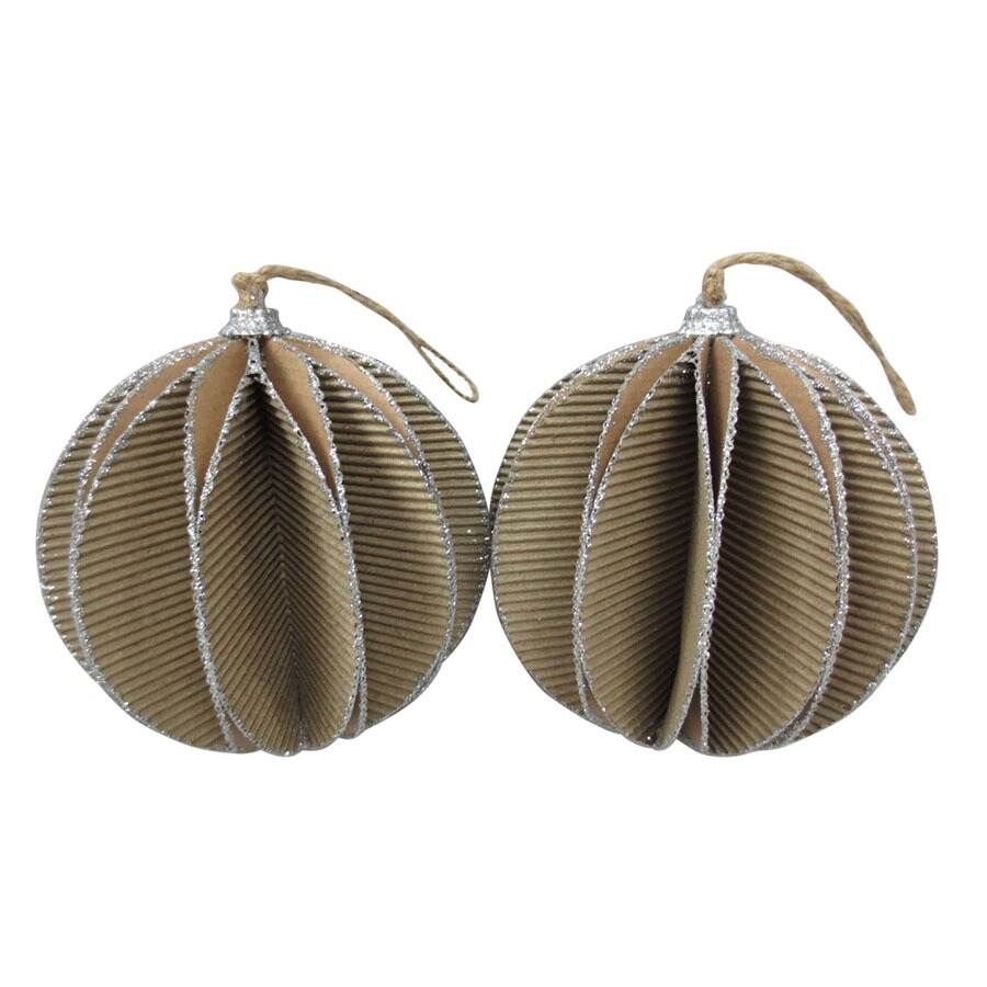 Holiday Living 2-Pack Brown Ball Ornament Set