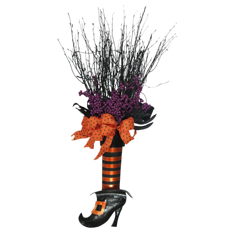 Holiday Living Pre-Lit Hanging Witch Shoe Sculpture with Purple Incandescent Lights
