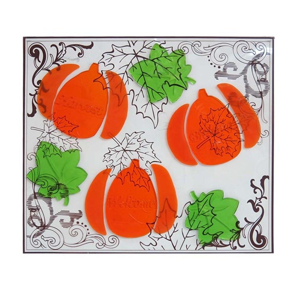 Holiday Living Gel Pumpkin Window Cling Indoor Thanksgiving Decoration