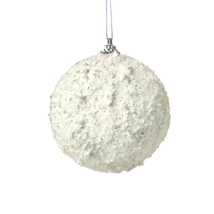 Holiday Living White Ball Ornament