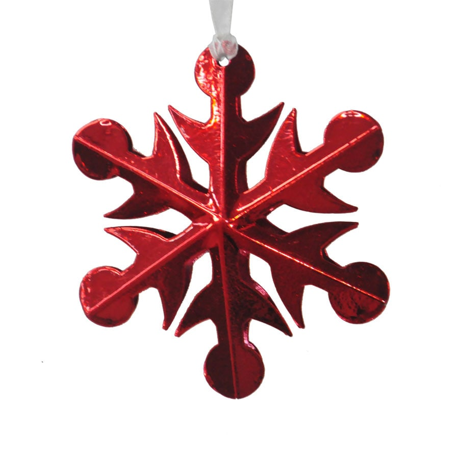 Holiday Living Red Snowflake Ornament