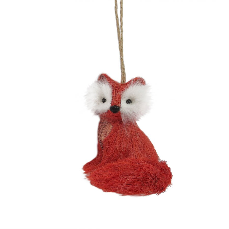 Holiday Living Orange Fox Ornament