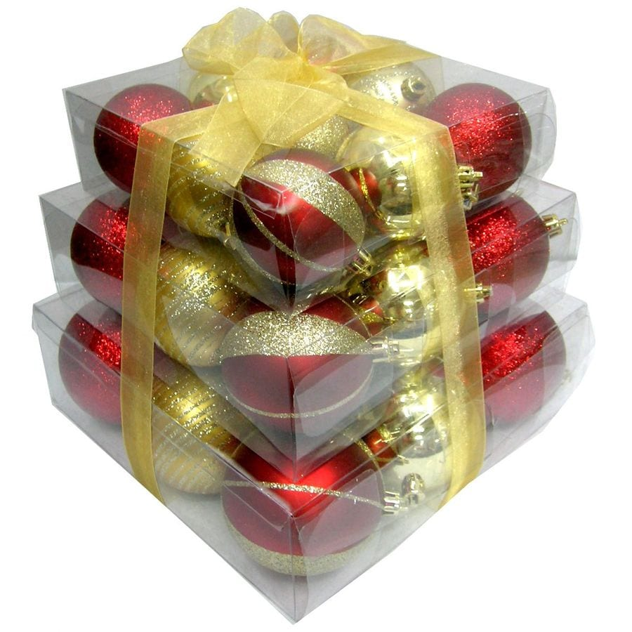 Holiday Living 27-Pack Multicolor Shatterproof 3-Tiered Ornaments