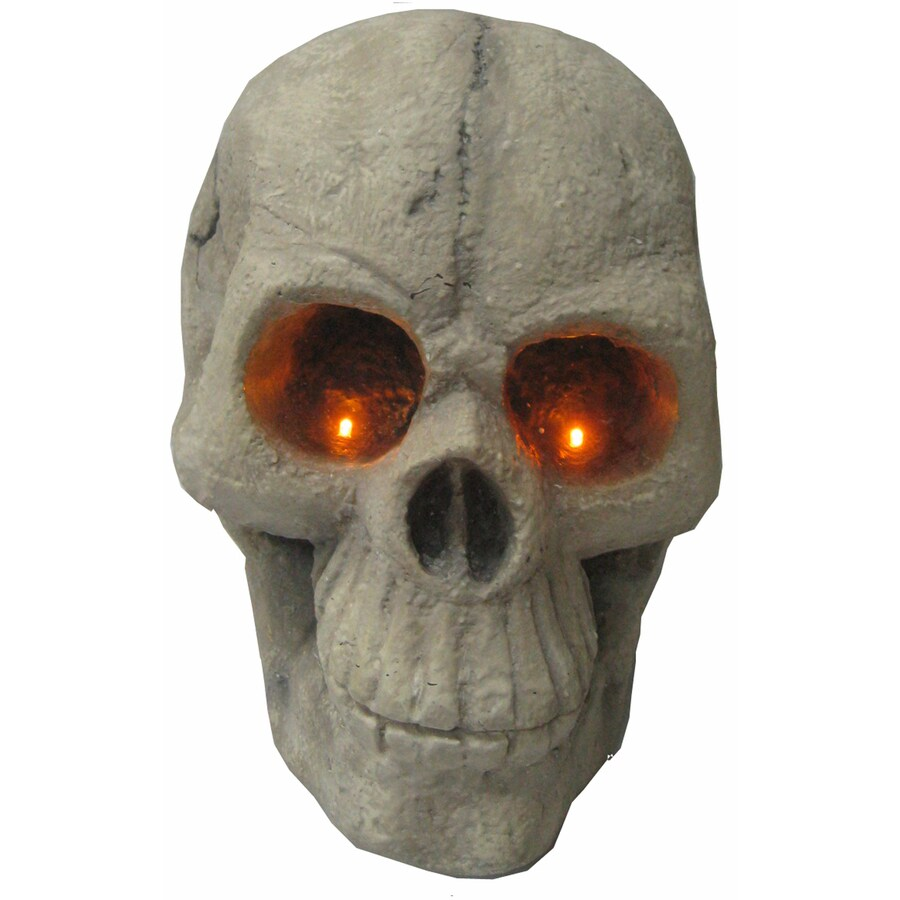 14.5-in Lighted Tabletop Large Skull with LED Lights