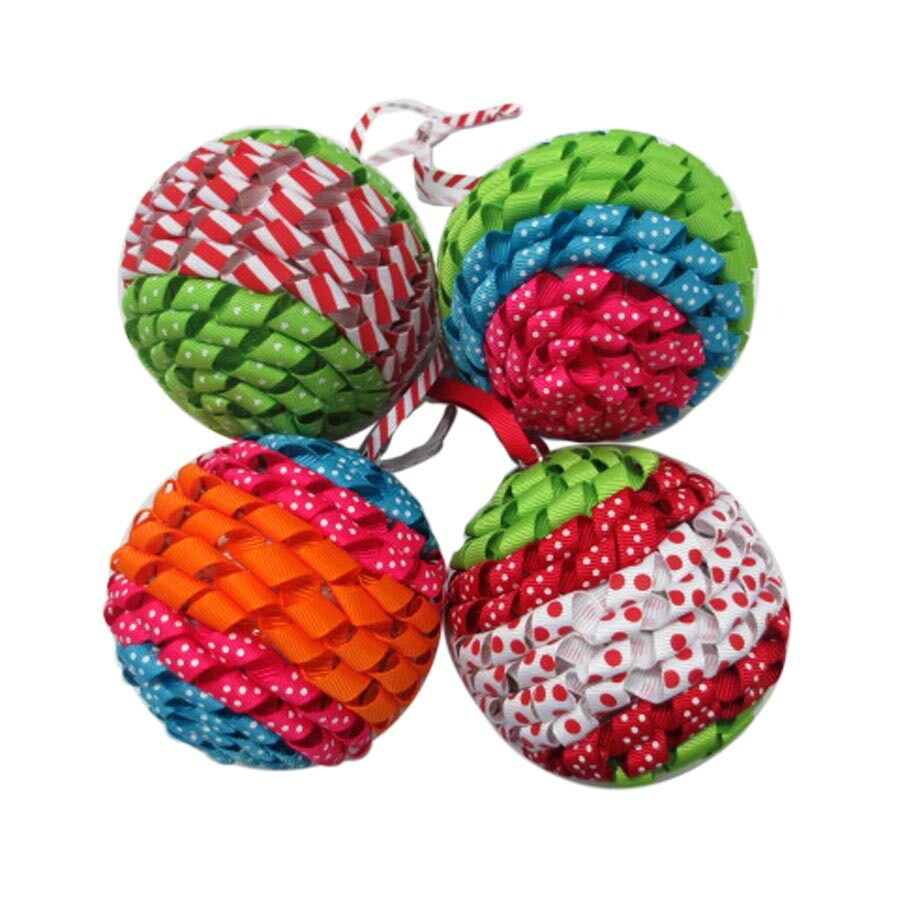 Holiday Living 4-Pack Bright and Festive Colored Ornament Set