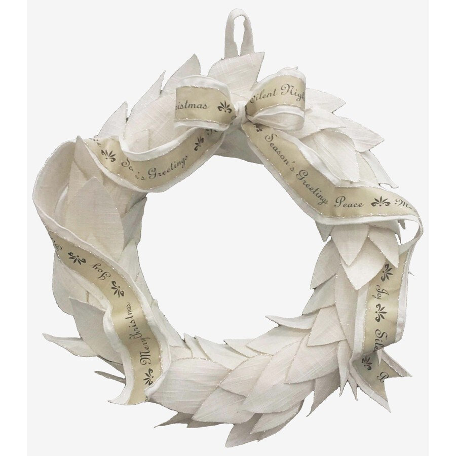 allen + roth 20-in Unlit Leaf Artificial Christmas Wreath