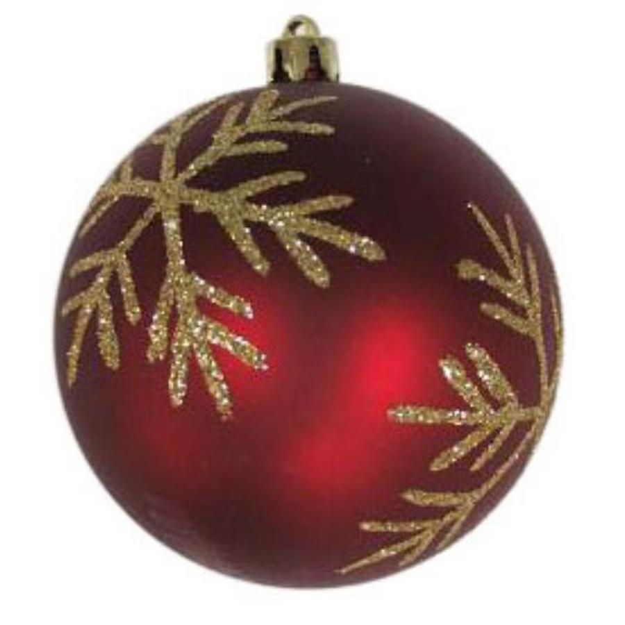 Holiday Living Dark Red with Light Gold Accents Snowflake Ornament Lights
