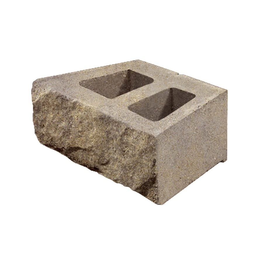 Tan Gray Stacked Stone Concrete Retaining Wall Block (Common: 16-in x 6-in; Actual: 16-in x 6-in)