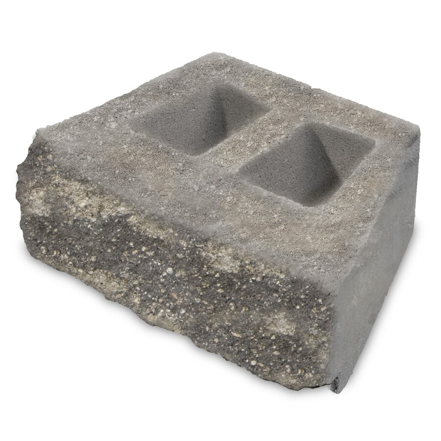 Grey/Char Chiseled Concrete Retaining Wall Block (Common: 16-in x 6-in; Actual: 16-in x 6-in)
