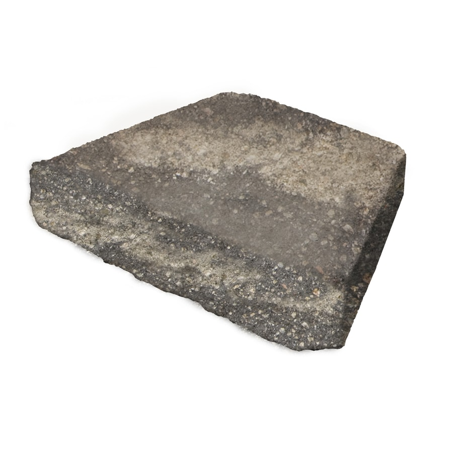 Grey/Char Chiseled Concrete Retaining Wall Cap (Common: 16-in x 3-in; Actual: 16-in x 3-in)