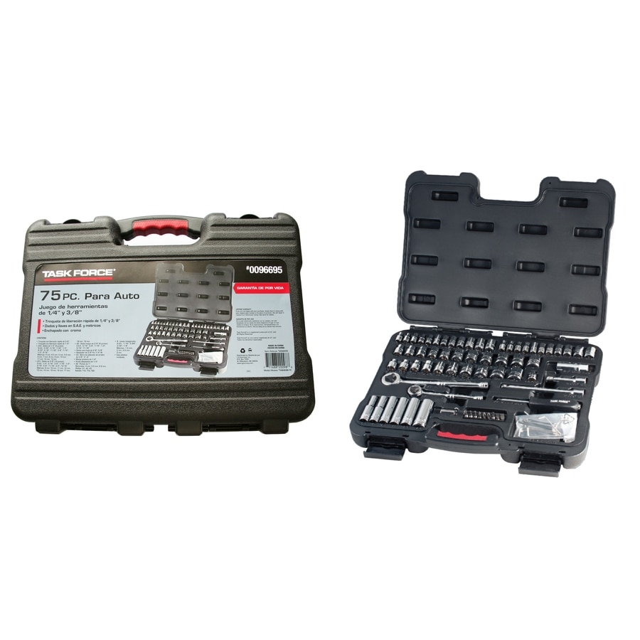 Task Force 75-Piece Standard (SAE) Mechanic's Tool Set