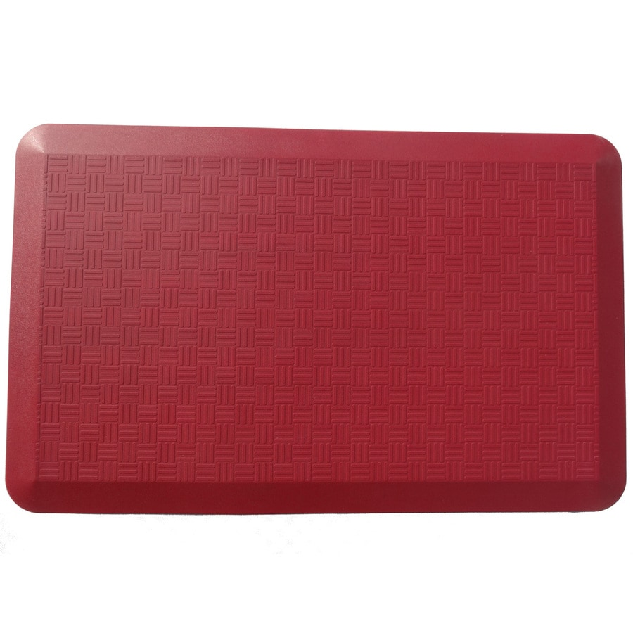 Red Anti-Fatigue Mat (Common: 2-ft x 3-ft; Actual: 20-in x 34-in)