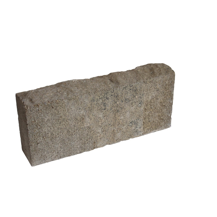Country Stone Tan/Black Chisel Top Concrete Edging Stone (Common: 5-in x 16-in; Actual: 4.5-in H x 16-in L)